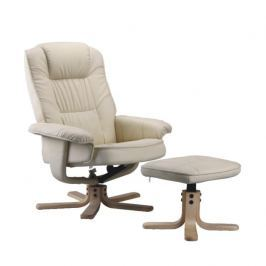 Relaxační křeslo, polohovatelné, béžová, EDDIE 11023099Relaxační křeslo s podnožkou EDDIE béžová Tempo Kondela