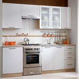 Kuchyňská linka základní sestava MONDA 240 dub sonoma / bílá Tempo Kondela