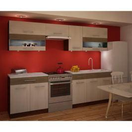Kuchyňská linka JURA NEW IA 260 rigoletto light / dark/ sklo Tempo Kondela