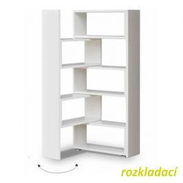 Regál, bílá, DTD laminovaná, KLOE I 0000087906 Tempo Kondela