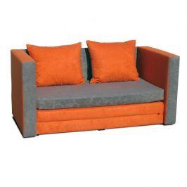 Rozkládací pohovka, oranžová, KATARINA NEW 0000115243 Tempo Kondela