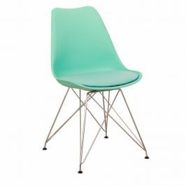 Židle, mentol + chrom, METAL 0000163053 Tempo Kondela