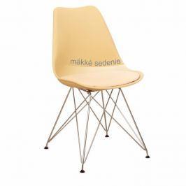 Jídelní židle METAL capuccino-vanilková Tempo Kondela