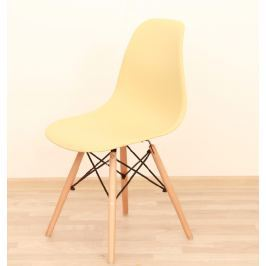 Židle CINKLA 2 NEW  capuccino-vanilka / buk Tempo Kondela