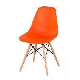 Židle CINKLA 2 NEW oranžová / buk Tempo Kondela