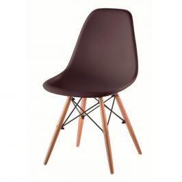 Židle CINKLA 2 NEW tmavě hnědá / buk Tempo Kondela