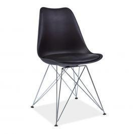 Židle, černá + chromové nohy, METAL NEW 0000183473 Tempo Kondela