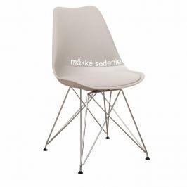 Židle, studená šedá + chrom, METAL NEW 0000183477 Tempo Kondela