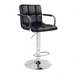 Barová židle LEORA černá Tempo Kondela