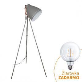 Stojací lampa TORINO WA001-G šedá Tempo Kondela