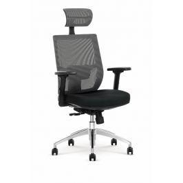 Kancelářské křeslo ADMIRAL černé/šedé Halmar