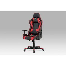 Kancelářská židle KA-N772 RED černá / červená Autronic