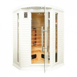 Rohová infračervená sauna GH0365 bílá