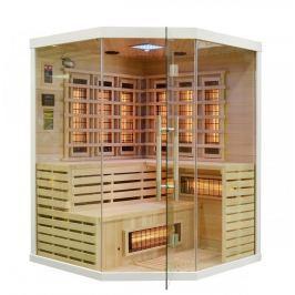 Rohová infračervená sauna GH0701 bílá