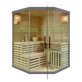 Rohová finská sauna GH9982 šedá