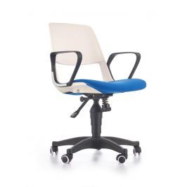 Dětská pracovní židle JUMBO Halmar bílá/modrá