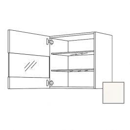 Skř.horní 45cm 1D pravá, bílá lesk,sklo 450.WGLS4501R