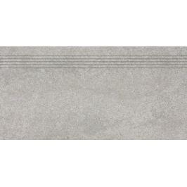Schodovka Rako Kaamos šedá 30x60 cm, protiskluz, rektifikovaná DCPSE587.1
