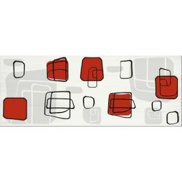 Dekor Fineza Fresh cube red 20x50 cm, lesk DFRESHRE