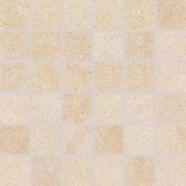 Mozaika Rako Kaamos béžová 30x30 cm, protiskluz, rektifikovaná DDM06586.1