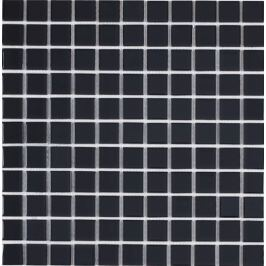 Skleněná mozaika černá 30x30 cm lesk MOS25BK