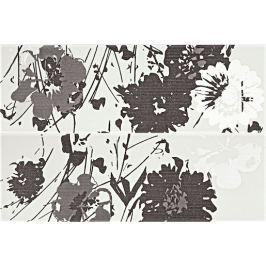 Dekor Rako Tendence černobílá 20x60 cm, pololesk WITVE005.1
