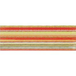 Dekor Rako Tendence červenozelená 20x60 cm, lesk WITVE006.1