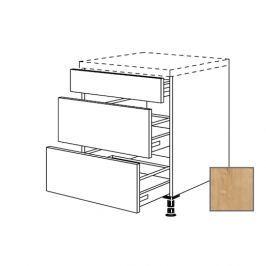 Kuchyňská skříňka zásuvková spodní Naturel Lusi24 45x72x56 cm dub 698.UA45