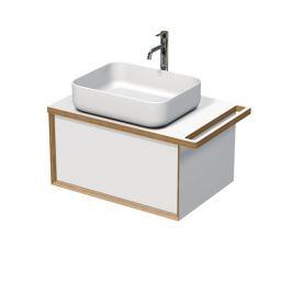 Koupelnová skříňka pod umyvadlo s držákem ručníku Naturel Oxo Multi 78x39x50 cm bílá mat OXOMULTI70KDLP