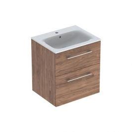 Koupelnová skříňka s umyvadlem Geberit Selnova 60x50,2x65,2 cm ořech hickory 501.238.00.1