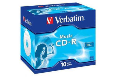 Verbatim CD-R 700MB/80 min. AUDIO LIVE IT!, 10ks (43365) Záznamová média