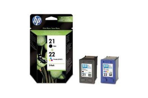 HP No. 21+22, 2 pack, 190/165 stran - originální (SD367AE) černá Inkoustové náplně