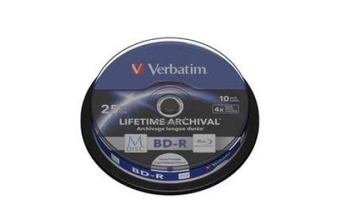 Verbatim Printable BD-R M-Disc 25GB, 4x, 10-cake (43825) Záznamová média