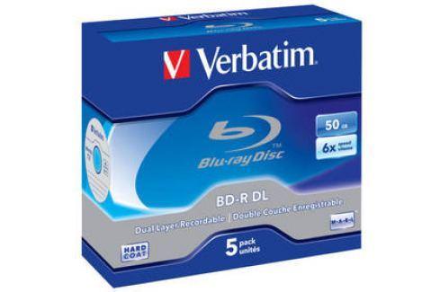Verbatim BD-R DL 50GB, 6x, jewel, 5ks (43748) Záznamová média