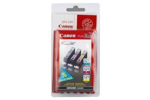 Canon CLI-521, 350 stran (2934B007) modrá/žlutá/růžová Inkoustové náplně