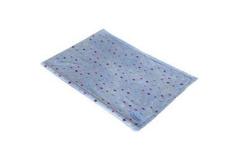 Nobby Spot plyšová deka s puntíky 75 x 50 cm modrá Deky a plachty