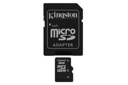 Kingston MicroSDHC 8GB Class4 + adapter (SDC4/8GB) Celý sortiment