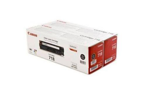 Canon CRG-718Bk, 2 x 3,4K stran - originální (2662B005) černý Tonery