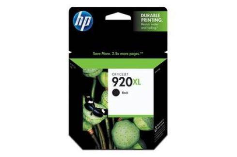 HP No. 920XL, 1200 stran - originální (CD975A) černá Inkoustové náplně