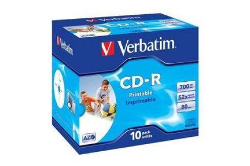 Verbatim Printable CD-R DLP 700MB/80min. 52x, jewel box, 10ks (43325) Záznamová média