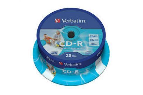 Verbatim Printable CD-R DLP 700MB/80min, 52x, 25-cake (43439) Záznamová média