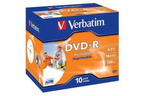 Verbatim DVD-R 4.7GB, 16x, printable, jewel box, 10ks (43521) Záznamová média