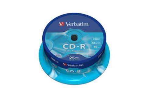 Verbatim Extra Protection CD-R DL 700MB/80min, 52x, 25-cake (43432) Záznamová média
