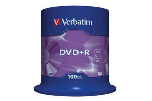 Verbatim DVD+R 4,7GB, 16x, 100cake (43551) Záznamová média