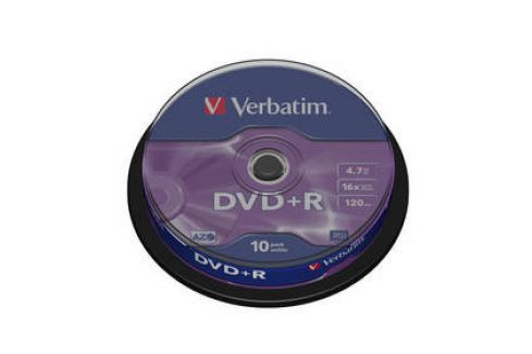 Verbatim DVD+R 4,7GB, 16x, 10cake (43498) Záznamová média