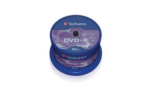 Verbatim DVD+R 4,7GB, 16x, 50cake (43550) Záznamová média