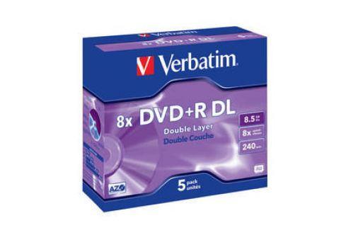 Verbatim DVD+R DualLayer, 8,5GB, 8x, 5ks (43541) Záznamová média