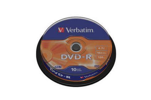 Verbatim DVD-R 4,7GB, 16x, 10cake (43523) Záznamová média