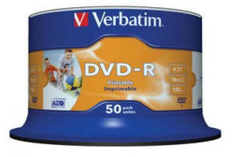 Verbatim DVD-R 4.7GB, 16x, printable, 50cake (43533) Záznamová média