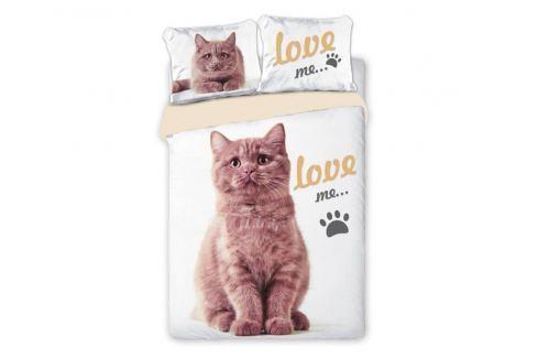 Povlečení Best Friends Cat 140x200 jednolůžko - standard bavlna Dětské povlečení